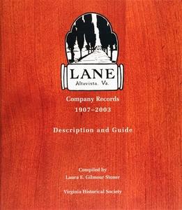 Lane Company Records, 1907-2003 [Hardcover]